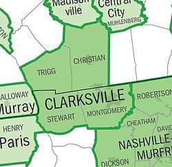 counties surrounding montgomery county tn
